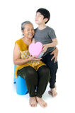 Asian Grandmother and child Royalty Free Stock Photos