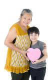 Asian Grandmother and child Royalty Free Stock Image