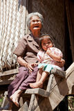 Asian grandmother with granddaughter Stock Photography