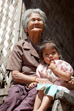 Asian grandmother with granddaughter Royalty Free Stock Photography