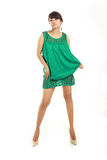 Asian in green dress Stock Photo