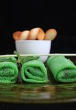 Asian green spring roll royalty free stock photo