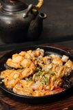 Asian Grilled Seafood Platter Royalty Free Stock Image