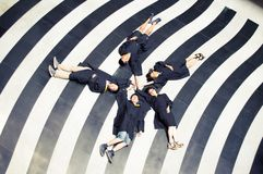 Asian group Creative Graduation picture Royalty Free Stock Photos