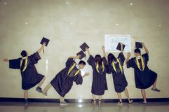 Asian group Creative Graduation picture 2 Royalty Free Stock Image