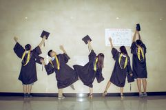 Asian group Creative Graduation picture 3 Royalty Free Stock Photo