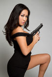 Asian Gun Girl Royalty Free Stock Photos