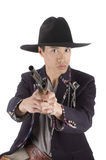 Asian gunfighter Royalty Free Stock Images