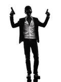 Asian gunman killer standing   silhouette Stock Photography