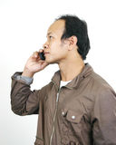 Asian guy 1. Asian guy series on white background royalty free stock photography