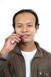 Asian guy 1. Asian guy series on white background stock photo