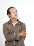 Asian guy 13. Asian guy series on white background stock photo