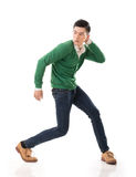 Asian guy with dramatic pose Stock Photos