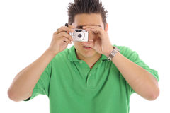 Asian guy taking a photo Royalty Free Stock Image