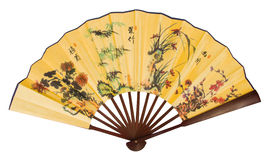 Asian Hand Fan With Dragons Stock Photography
