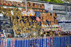 Locale market stall for home related object. stock image