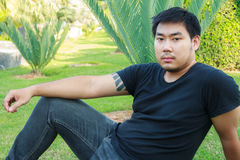 Asian Handsome Boy Stock Photo