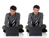 Asian happy Businessman Stock Images