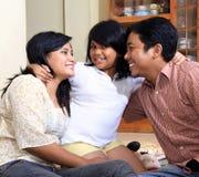 Asian happy family Royalty Free Stock Photos