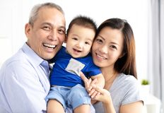 Happy grandparent with baby grandson Royalty Free Stock Images