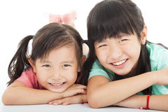 Asian  happy little girls Stock Images