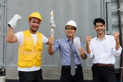 Engineer team celebrate for project success Royalty Free Stock Photography
