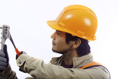 Asian hard hat worker Royalty Free Stock Images