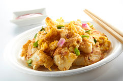 Asian Hawker Food. Asian crispy traditional hawker food on clean table top Royalty Free Stock Photo