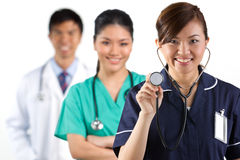 Asian healthcare workers. Royalty Free Stock Images
