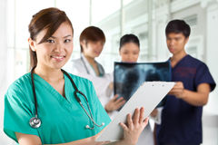 Asian healthcare workers. Stock Photography