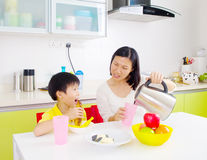 Asian healthy eating Stock Photography