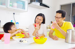 Asian healthy eating Royalty Free Stock Photos
