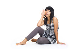 asian hello-girl Stock Images