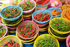 Asian herbs and vegetables. For sale Stock Photography