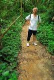 asian hiker mountain old trail Arkivfoton