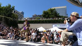Asian hip hop dancer street stage stock video footage