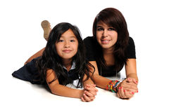 Asian and Hispanic Girls Royalty Free Stock Photos
