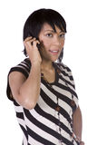 Asian - Hispanic Woman Talking on the Phone Stock Image