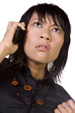 Asian - Hispanic Woman Talking on the Phone Royalty Free Stock Photos