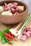 Asian Hot And Spicy Food Ingredient With Onions Stock Photos