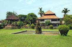 Asian house and garden(Bali,Indonesia) Royalty Free Stock Images