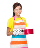 Asian housewife cooking Stock Images