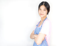 Asian housewife is in ready for work for employment Stock Photo