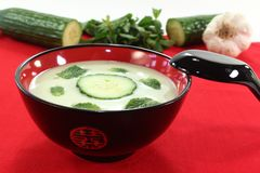 Asian iced cucumber soup Stock Images
