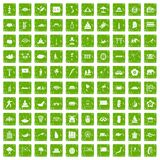 100 asian icons set grunge green. 100 asian icons set in grunge style green color isolated on white background vector illustration stock illustration