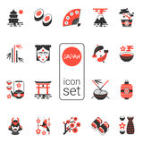 Asian icons set - vector illustration. eps 8 Royalty Free Stock Photos