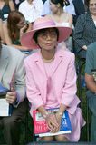 Asian immigrant. And 76 new American citizens at Independence Day Naturalization Ceremony on July 4, 2005 at Thomas Jefferson's home, Monticello Royalty Free Stock Image