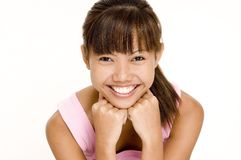Asian In Pink 13 Royalty Free Stock Photography