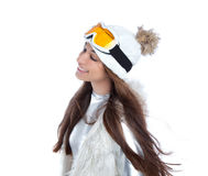 Asian indian brunette winter girl Stock Photography