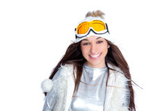 Asian indian brunette winter girl Royalty Free Stock Images
